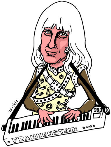 Edgar Winter caricature likeness