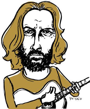 Eric Clapton caricature likeness