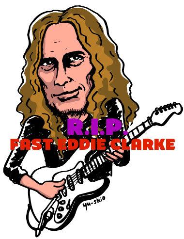 Fast Eddie Clarke Motorhead caricature likeness