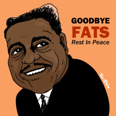 Fats Domino caricature likeness