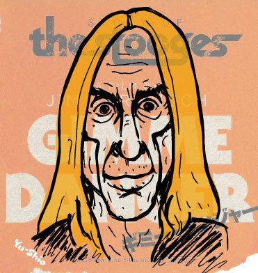 Iggy Pop Stooges caricature likeness