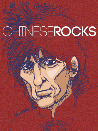 Johnny Thunders caricature likeness