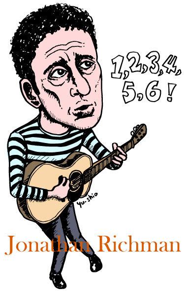 Jonathan Richman caricature likeness