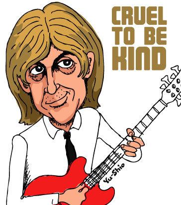 Nick Lowe caricature likeness