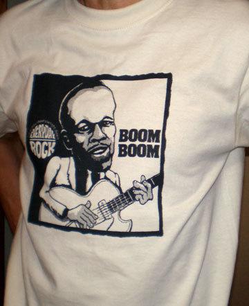 John Lee Hooker T Shirt caricature