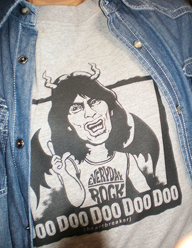 Mick Jagger rolling Stones T Shirt caricature
