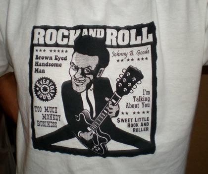 Chuck Berry T Shirt caricature