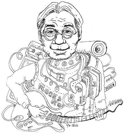 細野晴臣 caricature likeness