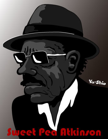 Sweet Pea Atkinson caricature likeness