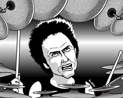 Terry Bizzio caricature likeness