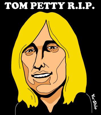 Tom Petty caricature likeness