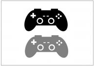 ゲームコントローラーのフリー素材テンプレート・画像・イラスト