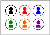 ユーザーアイコンのフリー素材テンプレート・画像・イラスト