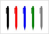 シャープペンシル(シャーペン)のフリー素材テンプレート・画像・イラスト