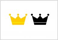 王冠のフリー素材テンプレート・画像・イラスト