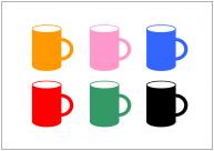 マグカップのフリー素材テンプレート・画像・イラスト