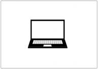 ノートパソコンのフリー素材テンプレート・画像・イラスト