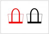 トートバッグのフリー素材テンプレート・画像・イラスト