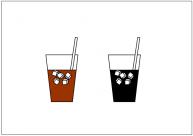 アイスコーヒーのフリー素材テンプレート・画像・イラスト