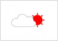 晴れのち曇りのフリー素材テンプレート・画像・イラスト