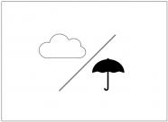 曇りのち雨のフリー素材テンプレート・画像・イラスト