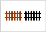 柵のフリー素材テンプレート・画像・イラスト