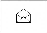 開封済みメールのフリー素材テンプレート・画像・イラスト