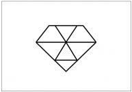 ダイヤモンドのフリー素材テンプレート・画像・イラスト