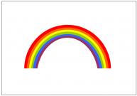 虹のフリー素材テンプレート・画像・イラスト