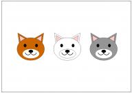 犬の顔のフリー素材テンプレート・画像・イラスト