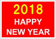 HAPPY_NEW_YEAR_2018のポスターテンプレート・フォーマット・雛形
