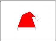 サンタの帽子のフリー素材テンプレート・画像・イラスト