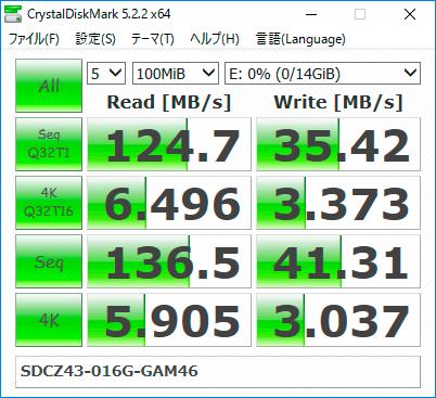【CrystalDiskMark 5.2.2】SDCZ43-016G-GAM46