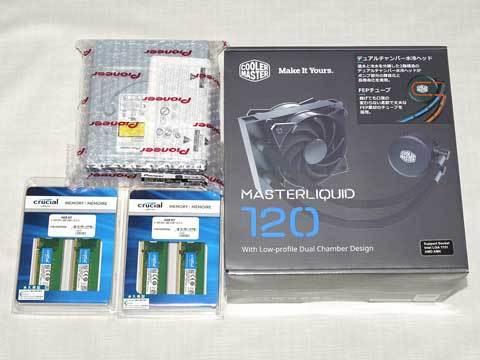 『MasterLiquid 120』『CT4K16G4DFD8266』『BDR-211XJBK/WS』