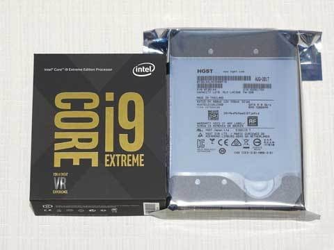 『Intel Core i9 7980XE Extreme Edition』『HGST Ultrastar He12 HUH721212ALE600』