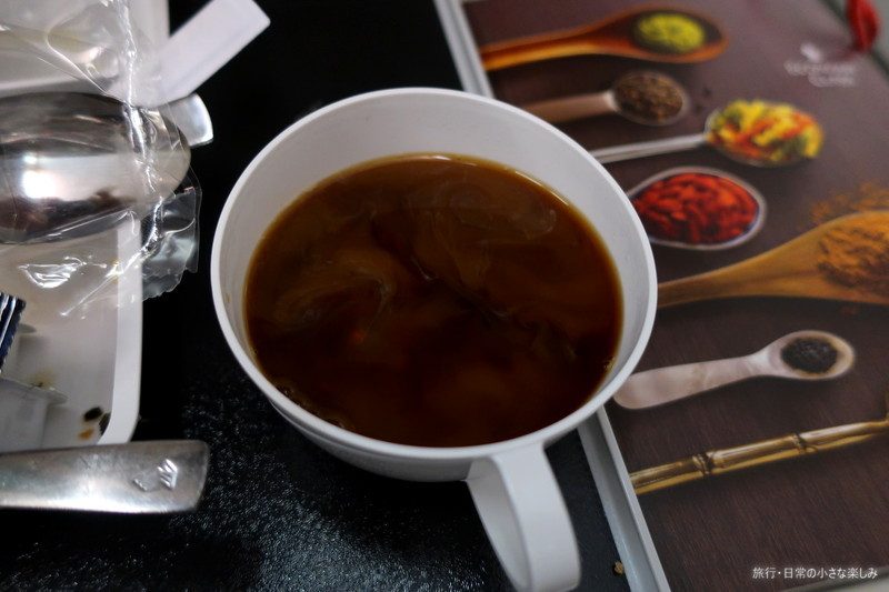 SQ618 シンガポール航空 機内食