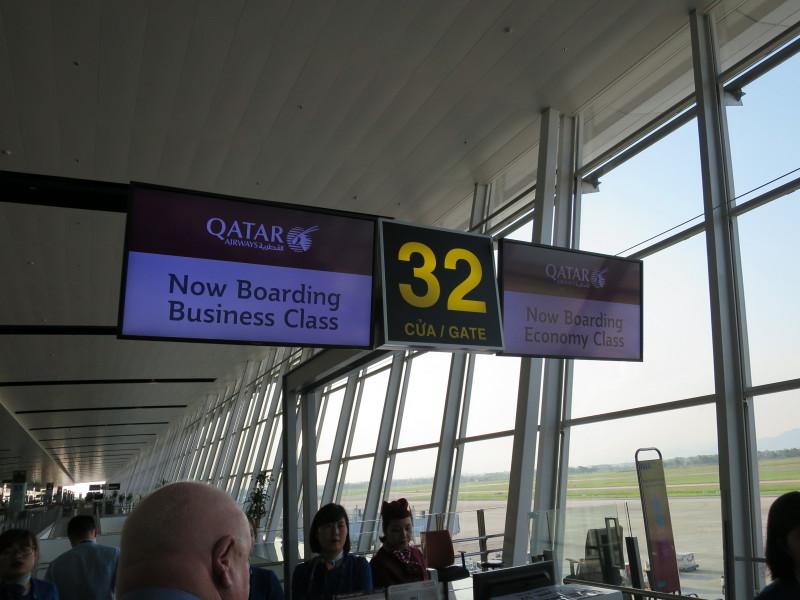 カタール航空 QR835 ビジネスクラス 搭乗記
