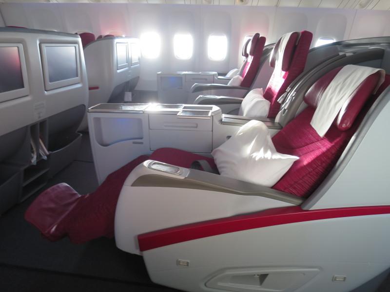 カタール航空 GR835 ビジネスクラス メニュー
