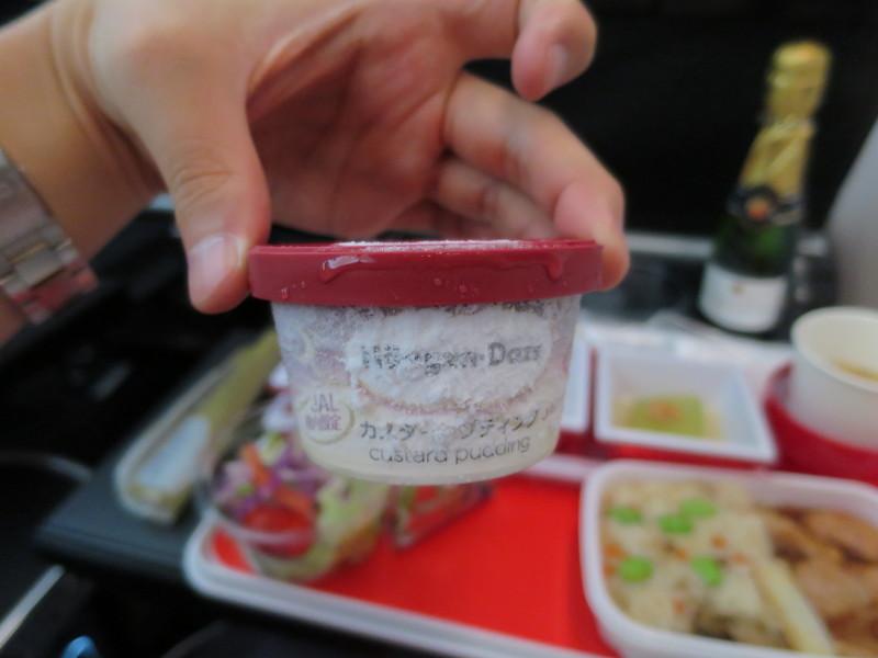 JL771 機内食 成田-シドニー プレミアムエコノミー ハーゲンダッツ