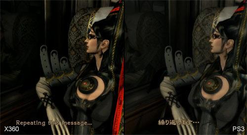 PS3版とXbox360版のアクションゲーム『ベヨネッタ』