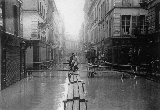 1910年のセーヌ河氾濫