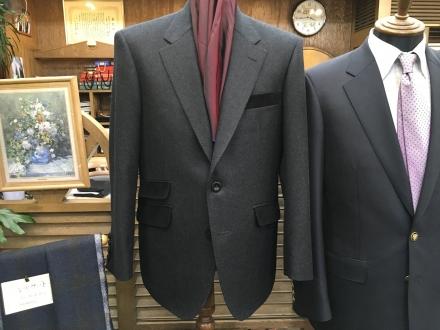 葛利毛織のフランネルオーダージャケット