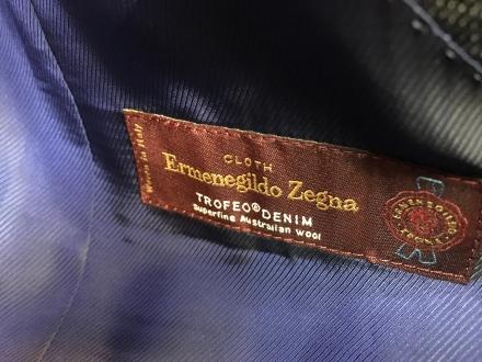 ゼニアトロフェオデニムスーツオーダー