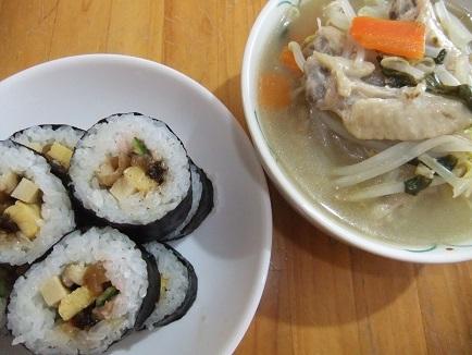 巻き寿司、サムゲタン
