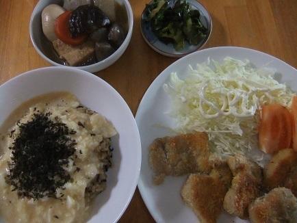 長芋丼、豚カツ等