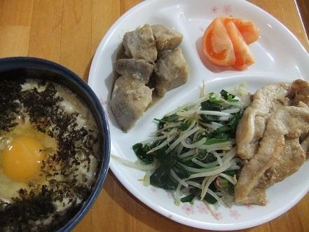 長芋丼、生姜焼き等