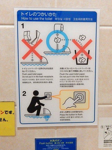 トイレの説明ピクトさん
