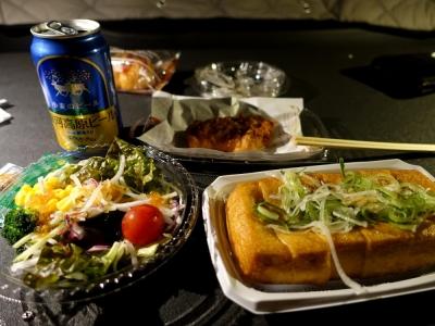 夕食はコンビニ惣菜で