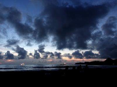 岩井海岸の夕景