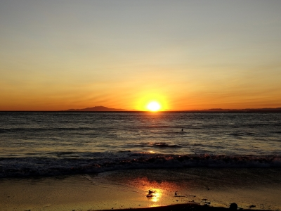保田海岸の夕日